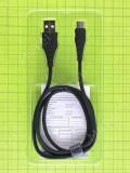 USB кабель Rock Type-C 100см 3A, черный orig-china