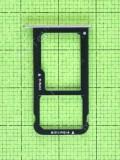 Держатель SIM карты Huawei P9 lite 2017 (VNS-L31), серый, Оригинал #51661ACP
