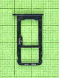 Держатель SIM карты Huawei Nova Lite 2017 (SLA-L22), черный, Оригинал #97070RSR