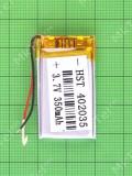 Аккумулятор 302037 150mAh 3x20x37mm, copyAA