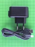 Зарядка USB 0,5A Nomi i281+ с USB шнуром, длина разъема 8мм, черный Оригинал
