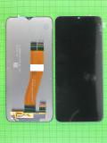 Дисплей Samsung Galaxy A02s с сенсором, черный Оригинал OEM