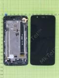 Дисплей FLY IQ4414 Evo Tech 3 с сенсором, панелью, черный used