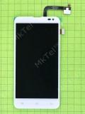 Дисплей FLY IQ4514 Quad EVO Tech4 с сенсором, белый used