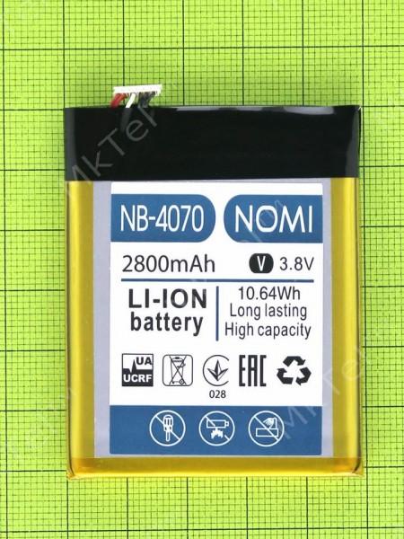 Аккумулятор NB-4070 Nomi i4070 Iron-M 2800mAh, Оригинал