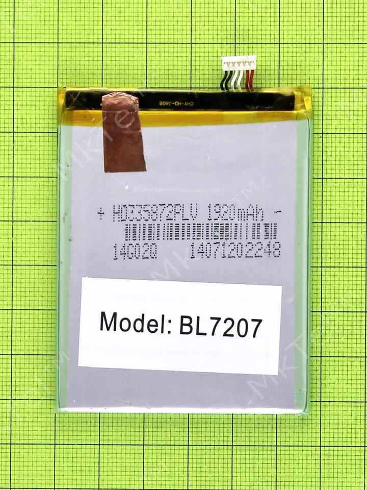 Купить Аккумулятор BL7207 Fly IQ4511 Octa Tornado One