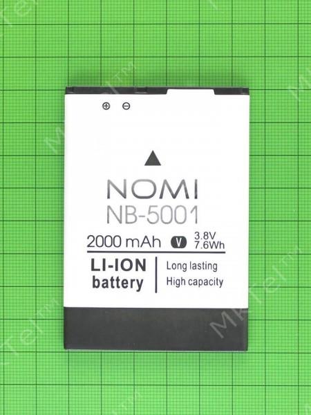 Аккумулятор NB-5001 Nomi i5001 EVO M3 2000mAh, Оригинал