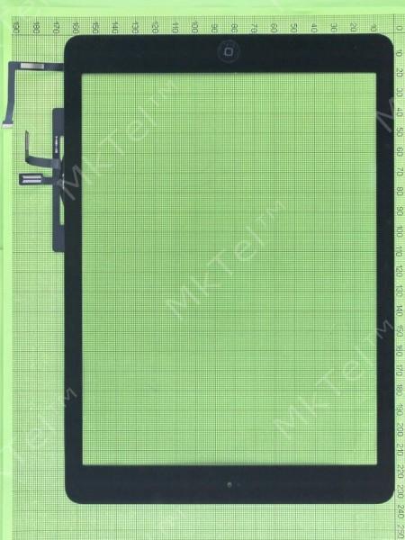Сенсор iPad Air в сборе с кнопкой Home, черный copyAA