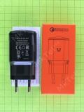 Зарядное устройство Quick Charge 3.0 EU QC3.0 3A USB, черный Оригинал