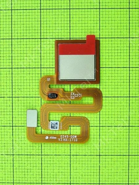 Шлейф сканера отпечатков пальца Xiaomi Redmi 4X, золотистый, Оригинал