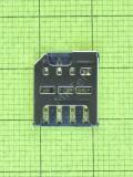 Коннектор SIM карты Huawei Y5II (CUN-U29), Оригинал #97070MTG