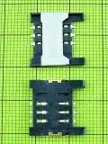 Коннектор SIM карты FLY EZZY 4, Оригинал #01.12.080657