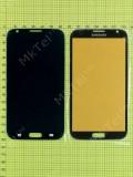 Стекло передней панели Samsung Galaxy Note 2 N7100, кофейный copyAA