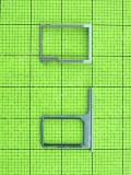 Держатель SIM карты HTC One M8, комплект, серебристый orig-china